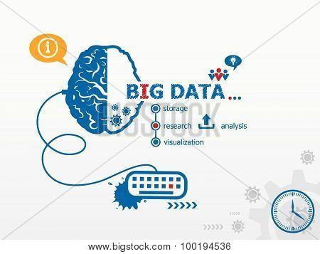 Big Data Design Illustration Concepts For Business