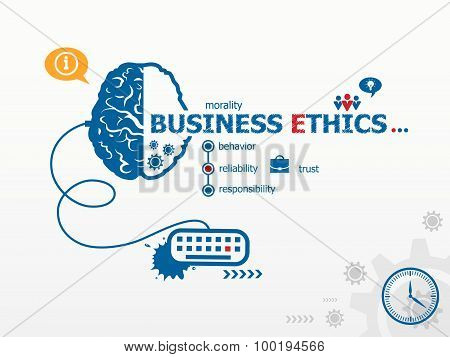 Business Ethics Design Illustration Concepts For Business.