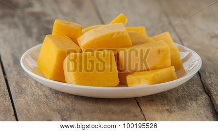 Chopped orange butternut squash
