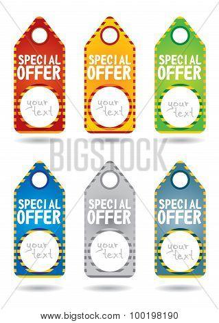 Set Of Special Promotion Label