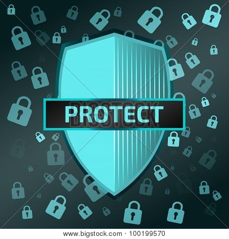 Shield icon. Protect
