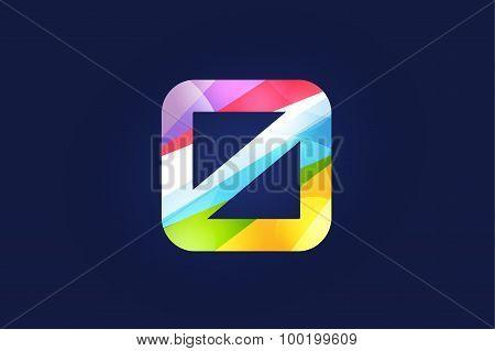 Zero letter vector logo icon symbol
