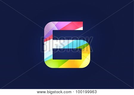 Six 6 letter vector logo icon symbol