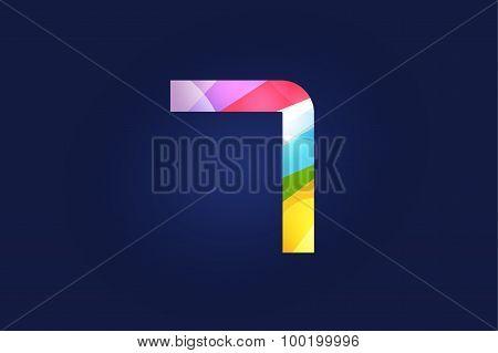 Seven 7 letter vector logo icon symbol
