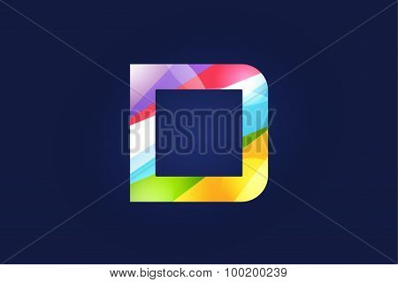 D letter vector logo icon symbol