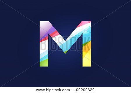 M letter vector logo icon symbol