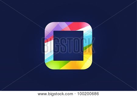 O letter vector logo icon symbol