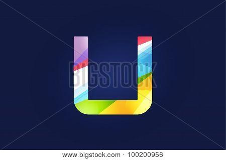 U letter vector logo icon symbol