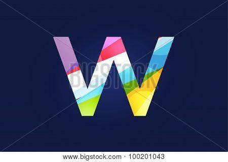 W letter vector logo icon symbol