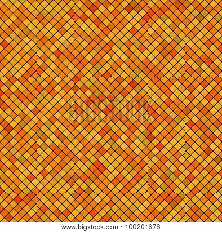 Background Abstract Mosaic Of The Grid Pixel Pattern And Squares Yellow Color