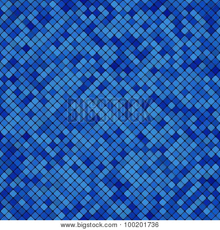 Background Abstract Mosaic Of The Grid Pixel Pattern And Squares Dark Blue Color