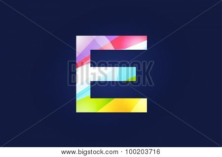 E letter vector. E logo icon template. E symbol silhouette. E isolated icon, E line style letter, E logotype, E logotype, E modern symbol, E company name brand.
