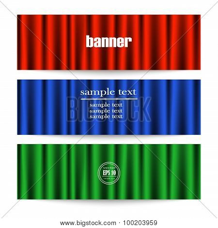 Web Banner With Theater Curtains