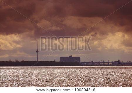 Thunderstorm clouds over Tallinn