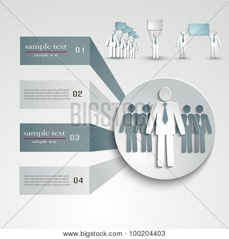 Infographic Template For Business Project Or Presentation.