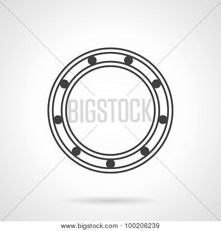 Roller bearing line vector icon