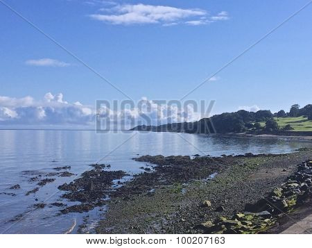 North Down shore on a sunny summers morning