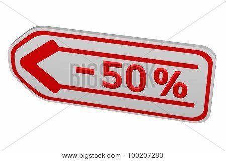 Discount - 50 % Arrow