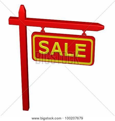 Pillar With Sign Sale