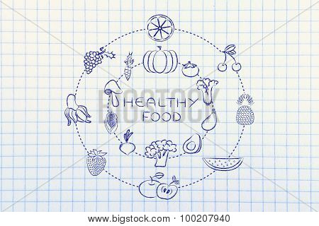 Healthy Food: Fruit And Vegetables