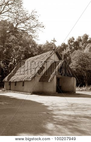 The Old Lutheran Church Of The Village Pomerini In Tanzania, Africa 65