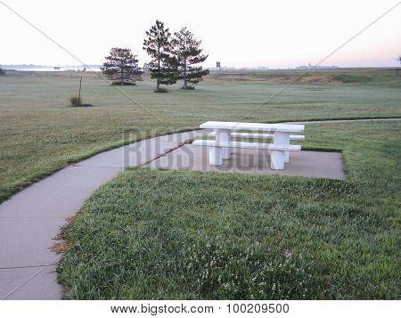 Concrete Picnic Table