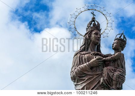 Mary Star Of The Sea Statue In Trapani, Italy