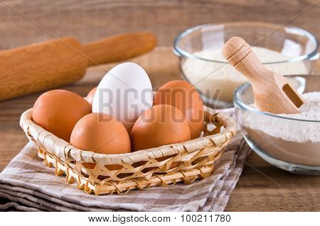 Eggs in the basket.