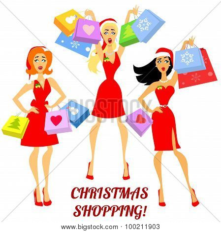 Christmas shopping design