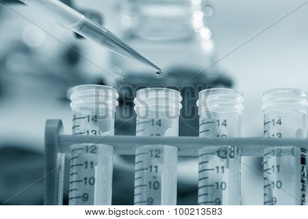 Pipette and test tubes