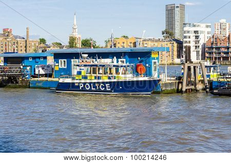 Police River Boat