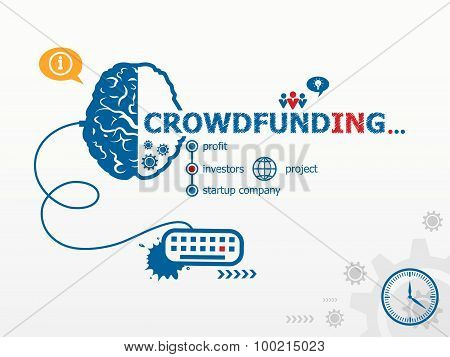 Crowdfunding Design Illustration Concepts For Business