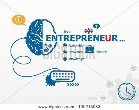 Entrepreneur Design Illustration Concepts For Business.