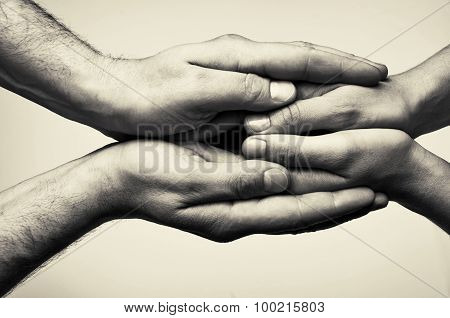 Two hands - care