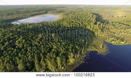 Two Lakes Air Photo