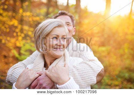 Senior couple outside