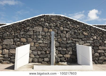 Shower Zone Near The Beach In Terceira Island. Azores. Portugal