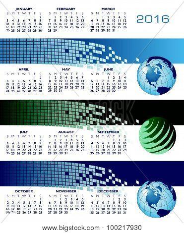 A 2016 Web Banner Calendar