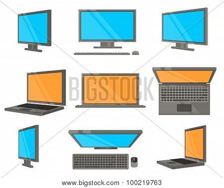 Electronic Device Flat Icons