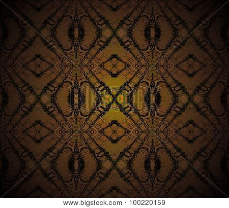 Seamless diamond pattern brown shining