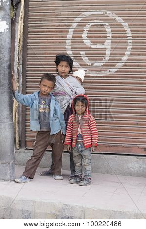 Poor Young Children In India