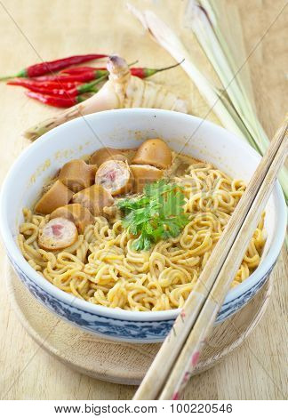 Noodle With Tom Yum Soup