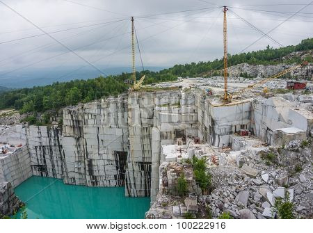 active working granite quarry