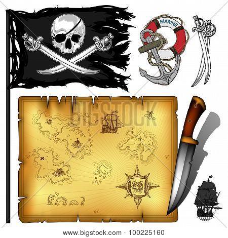 Marine Theme Icons Set