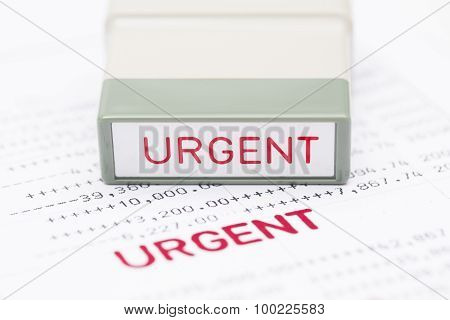 Urgent Document, Bank Statement, Financial Concept