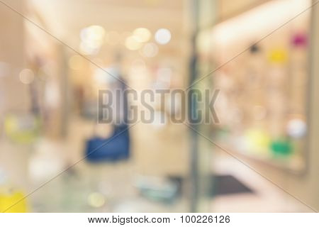 Blurred Clothing Store Front With Woman's Fashion