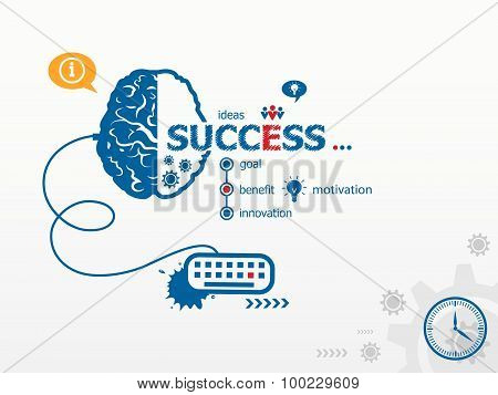 Success Design Illustration Concepts For Business