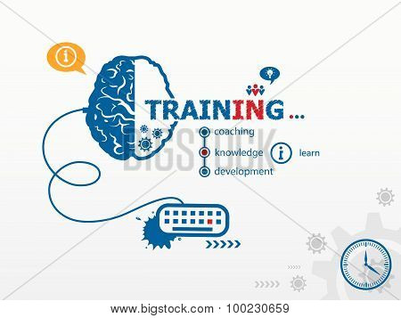 Vector Training Design Illustration Concepts For Business