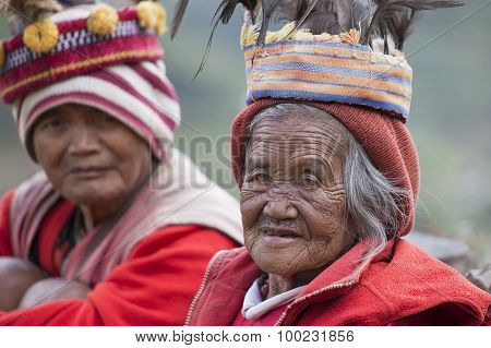 Portrait Ifugao People In Banaue, Philippines