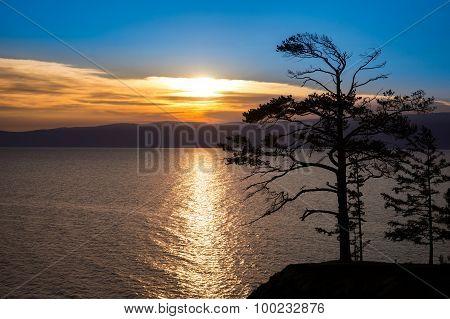 Baikal lake sunset